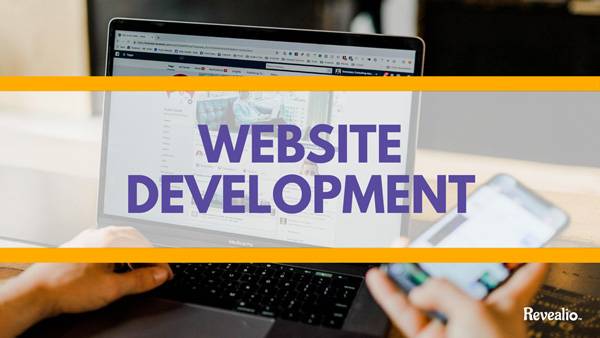 Website Development image of someone typing on a laptop