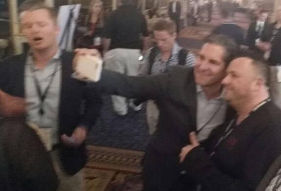 Grant taking a selfie with Mat Koenig