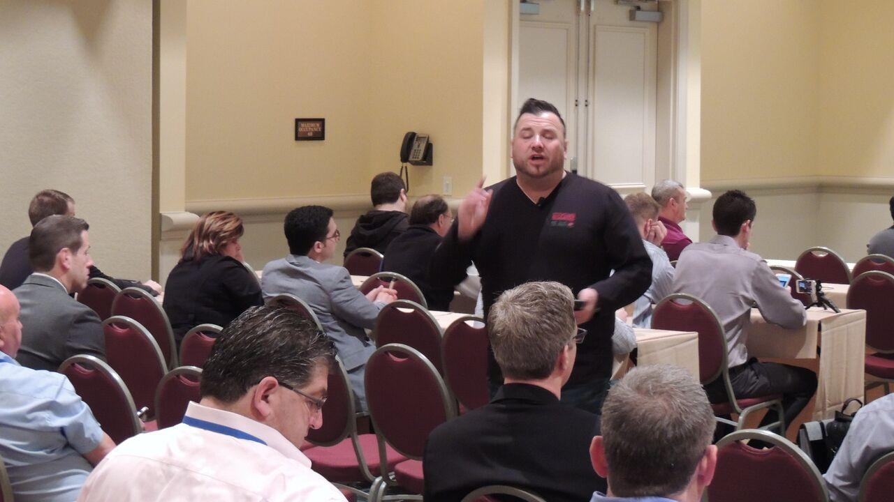 Mat speaking at digital dealer
