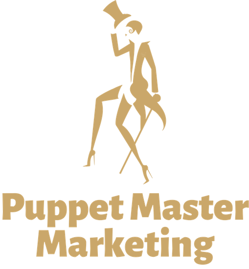 Golden Entertainer Puppet Master Marketing Logo