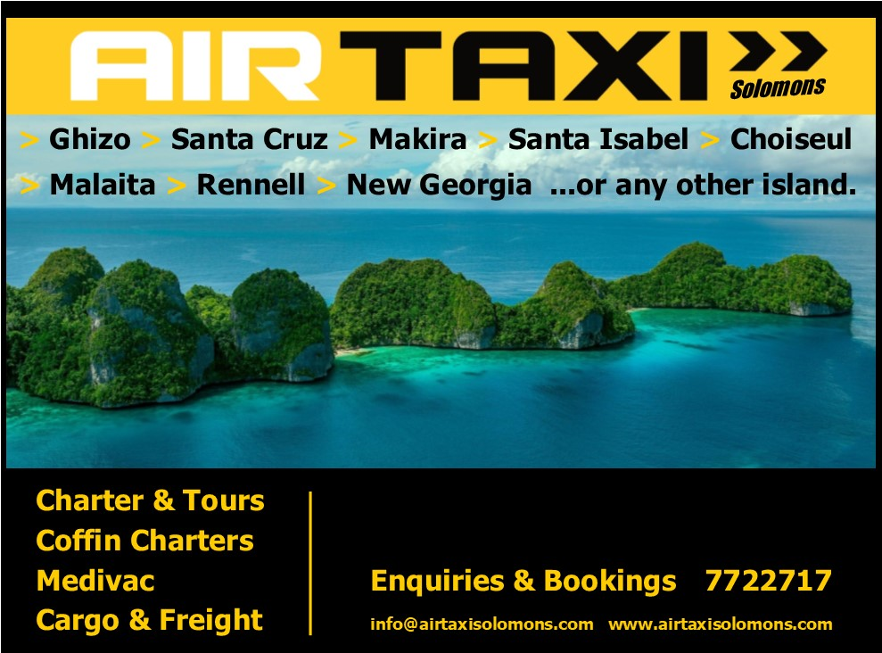 Air Taxi Solomons splash advert
